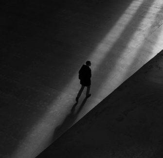 Men walking alone